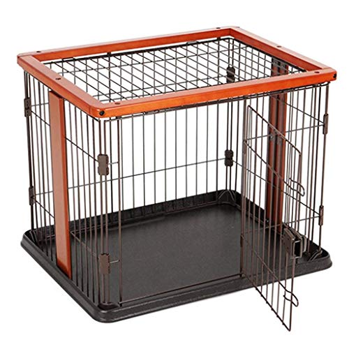 KTDT Foldable Metal Exercise Pen/Pet Playpen For Small Animals, Indoor Outdoor, Black (Size : Small)