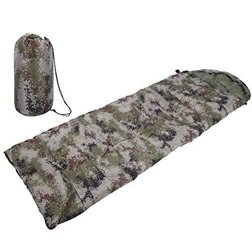 Keen so Outdoor Camping slaapzak, draagbare camouflage-slaapzak lichte waterdichte omslagslaapzak met opbergtas voor campingpicknick-wandeltochten