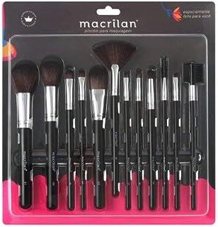 Kit com 12 pincéis para maquiagem - KP9-1A, Macrilan