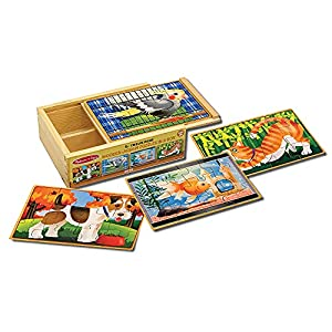 Melissa & Doug Wooden Jigsaw Puzzles in a Box - Pets from Melissa Doug