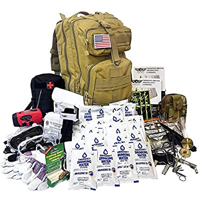EVERLIT Earthquake Emergency Kits Survival Kit 72 Hrs 2 Person Bug Out Bag for Hurricanes, Floods, Tsunami, Other Disasters,Include Food Water, Gear, Hand-Crank Charger and More from EVERLIT