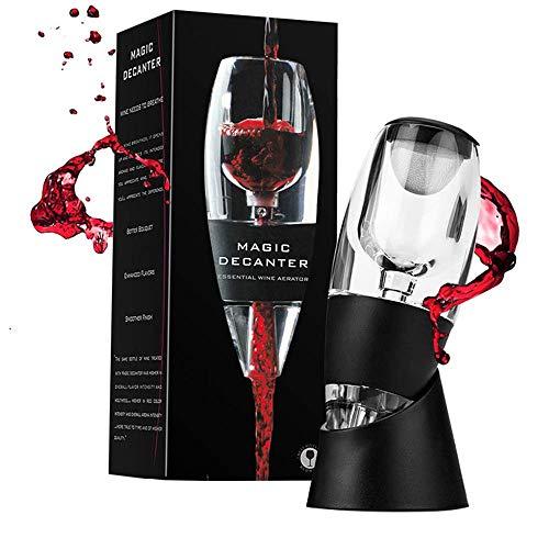 Decantador aireador de vino tinto – Decantador de aireador de vino – Decantador difusor con soporte – Regalo perfecto para los amantes del vino – Decantador de alta calidad para uso doméstico y fiesta