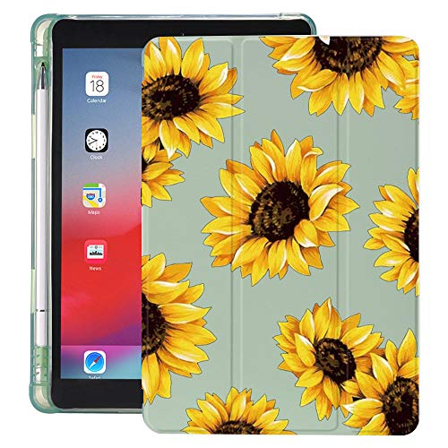 lingtai Daisy Sunflowers For Ipad Case With Pencil Holder Air 4 10.2 8th 2020 7th 6th 12.9 Pro 11 2018 Mini 5 Cover For 10.5 Air 1 2 3 (Color : B050095, Size : 11 inch pro 2018)