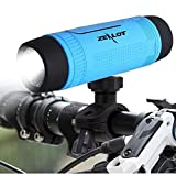 Portable Wireless Speaker Outdoor Bike Speaker Multifuctional Speaker Light 4000mAh Rechargeable Power Bank 3 Mode Emergency Flashlight Handsfree Call TF Card Music Player with Mounting Mracket