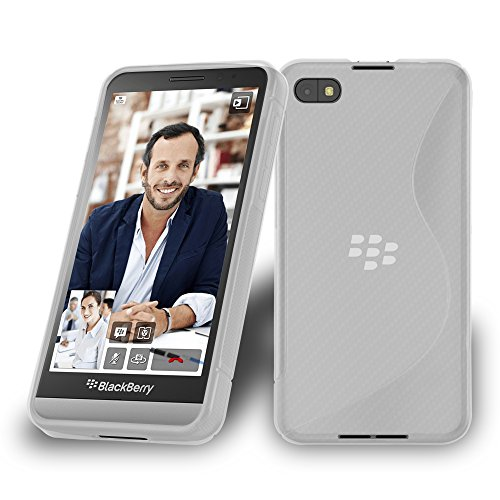 Cadorabo DE-105660 BlackBerry Z30 Handyhülle aus flexiblem TPU Silikon im S-Line Design Transparent