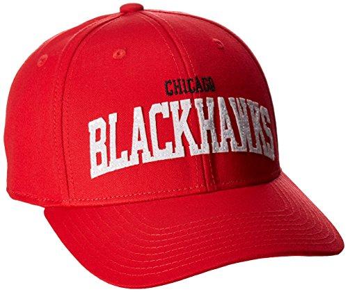 Reebok NHL Chicago Blackhawks SP17 Sequenzierte strukturierte verstellbare Kappe, Rot, Einheitsgröße