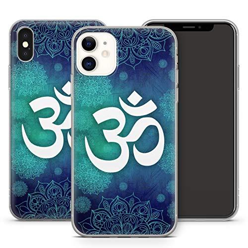 Handyhülle Om für Apple iPhone Silikon MMM Berlin Hülle Yin Goa Mandala Buddha Peace Yoga PSY, Hüllendesign:Design 1   Silikon Klar, Kompatibel mit Handy:Apple iPhone 11