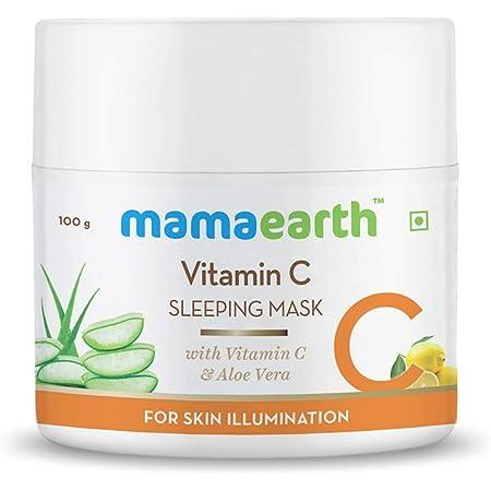 Mamaearth Vitamin C Sleeping Mask, Night Cream For Women, for Skin Illumination - 100 g