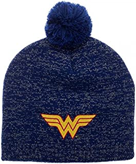 DC Comics Wonder Woman Metallic Lurex Pom Beanie