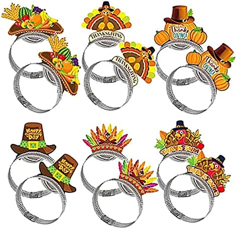 sold out 12Pcs Thanksgiving Al sold out. Decoration Turkey Party Costume Headbands Hat