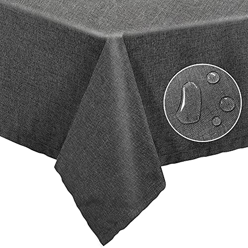 ANUWAA Rectangle Tablecloth Table Cloth, Wrinkle & Stain & Water Resistance Polyester Tablecloth, Soft Table Cover for Kitchen Dinning Tabletop Outdoor Picnic, Oxford Gray 54x54