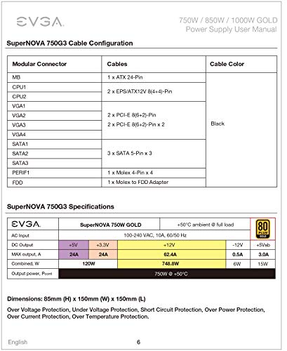 Build My PC, PC Builder, EVGA 220-G3-0750-X1