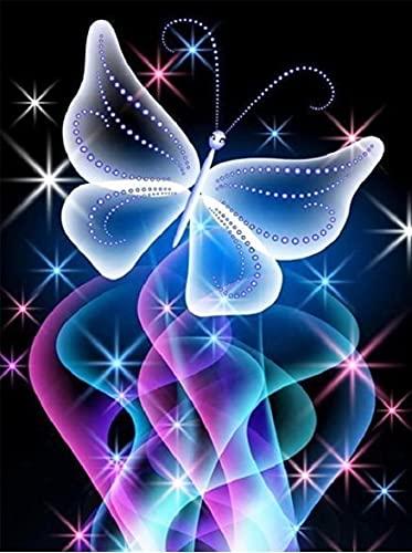 5D DIY Mariposa Mosaico Diamante Bordado Imagen de Animal Diamante de imitación Decoración del hogar Pintura de diamante A6 30x40cm