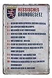 Blechschild Hessisches Grundgesetz - Metallschild