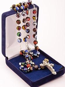 Murano Glass Rosary Auténtico cristal de Murano de la isla de Murano en Venecia. Rosario de regalo. Rosario de dama. Hecho a mano.
