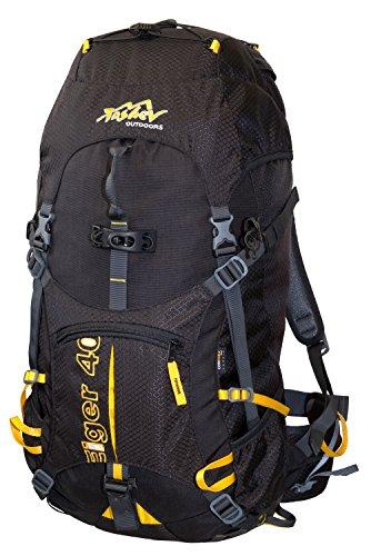 Sac à dos 40 l tASHEV 721140002190 en cordura eIGER sac à dos sac à dos de randonnée 40 l Noir Noir/orange