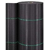 GardenGloss 50m² Anti Weed mulch 100 g / m² - Anti-weed tear-proof geotextile film - High UV sensitivity (50m x 1m, 1 Roll)