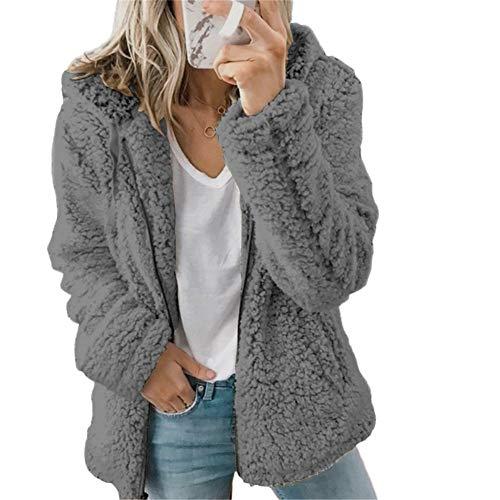 ZFQQ Herbst- und Winter-Mehrfarben-Wollvliesjacke für Damen