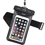 AUKEY Custodia Impermeabile Universale per Telefono Cellulare con Bussola e Fascia Sportiva da...