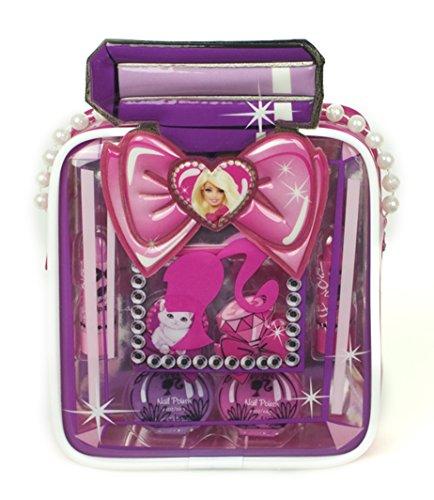 Barbie–Estuche 7productos de maquillaje