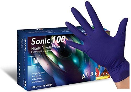 Aurelia Sonic 100 Bleu cobalt Gants en caoutchouc nitrile AQL 1.5