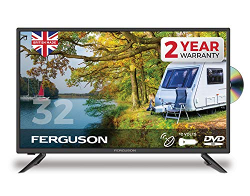 FERGUSON 32 Inch 12V TV DVD with Freeview HD & Satellite Tuner. BRITISH MANUFACTURER - F32F Traveller