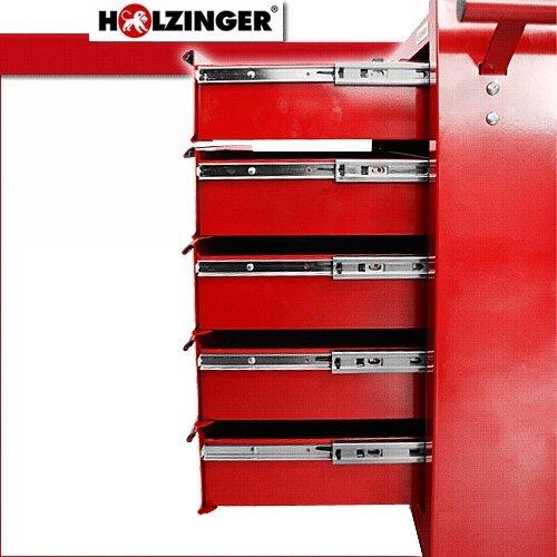 Holzinger Werkzeugwagen HWW1005KG – kugelgelagert (5 Schubfächer) - 5
