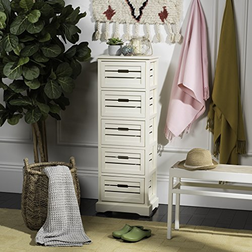 Safavieh American Homes Collection Sarina Distressed Cream 5-Drawer Cabinet