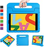 LTROP New iPad 10.2 Case, iPad 7th Generation Case for Kids, iPad 10.2 2019 Kids Case Shockproof Light Weight Handle Stand Case for iPad 7th Gen 10.2' and Air 3 - Blue