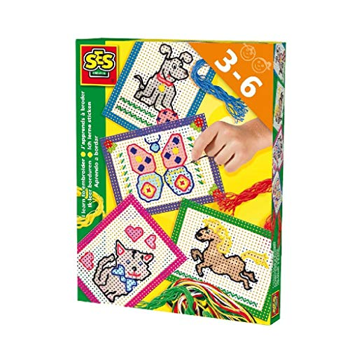 SES Creative - Aprendo a Bordar, Kit de Juego, Multicolor (14838)