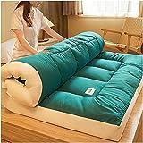 DOOGL Tatami Japanische Bodenmatratze, tragbare Camping-Matratze, Kinder-Schlafmatte, faltbar, aufrollbarer Boden mit Matratzenschoner (grün, King-Size)