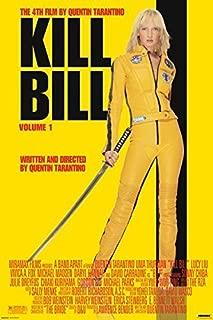 Pyramid America Kill Bill Volume 1 Uma Thurman Yellow Jumpsuit Quentin Tarantino Martial Arts Movie Poster 24x36 inch