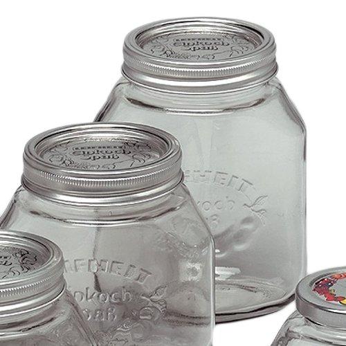 Einkochgläser 1 Liter | 6 Stück | Vorratsgläser | Marmeladengläser | Gewürzgläser | Einmachgläser