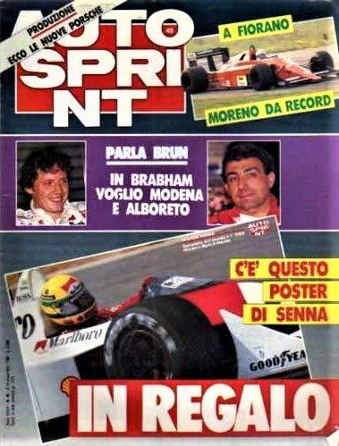 Autosprint 45 Novembre 1988 CON POSTER SENNA SU MCLAREN MP4 HONDA
