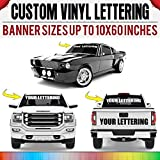 Rapid Vinyl Custom Vinyl Windshield Decal, Banner, Sticker, Custom Lettering Personalized | Sizes up to 10x60 | 30+ Colors, Use on Trucks, Cars, Jeeps, Boat, Trailer, Glass, Window, Windshield & More