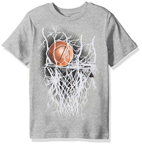 The Children's Place Big Boys' Sports Graphic T-Shirt, Smokeb, XS (4)