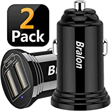 USB Car Charger[2-Pack], Bralon 18W 3.4A Mini 2 USB Fast Car Charger Adapter Compatible with IPhone Xs Max X 8 7 6 5,HTC,LG,Moto,BlackBerry,Galaxy Note S10 S9 S8 S7 S6 Edge, iPad Pro/Air/mini and More
