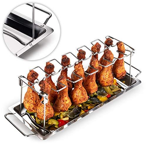 Blumtal Hähnchenschenkel Halter - Robuster Hähnchen Grill Ständer, für 12 Schenkel, Spülmaschinengeeignet