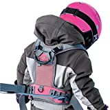 Sklon Ski and Snowboard Harness Trainer for Kids - Teach Your Child The Fundamentals of Skiing and Snowboarding - Premium Training Leash Equipment Prepares Them to Handle The Slopes (Pink Snowflake)