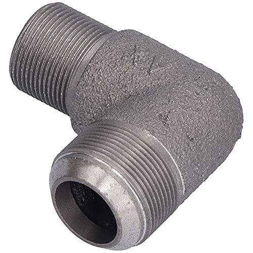 SALUTUY Codo para Compresor De Aire, Codo Metálico Resistencia A La Corrosión Duradera para La Configuración del Compresor De Aire 1.6 3100(Codo de Hierro 65 de Alta presión (304))