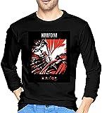 KMFDM Symbols - Camiseta de manga larga para hombre con cuello redondo de algodón para relajarse y absorber el sudor