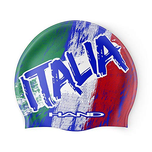 HAND SPORT Washed-up Italia, Cuffia in Silicone, Cuffia Piscina, Cuffia Nuoto, Taglia Unica (Blu Royal)