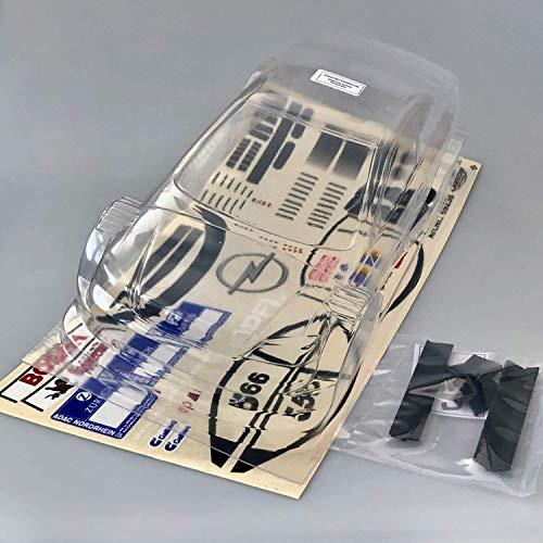 partCore RC Car Carrozzeria 1:10 Non Verniciato DTM Astra V8 Coupè 13263 con Decalcomanie Carson 24h Gara 69238