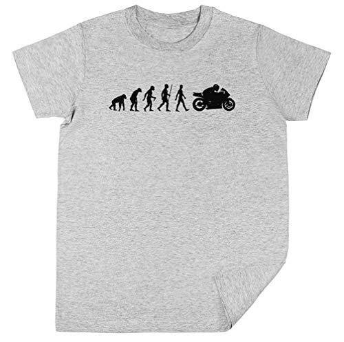 Wigoro Evolución De Moto Niños Unisexo Chicos Chicas Gris Camiseta Kids Unisex T-Shirt