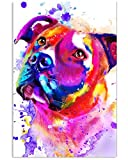 Lovely Pitbull Water Colors Gifts for Dog Lovers Vertical