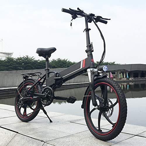 SHIJING 20 Pulgadas Plegable Energía Eléctrica Bicicleta de Asistencia eléctrica de Bicicletas E-Vespa de la Bici del Motor de 350W
