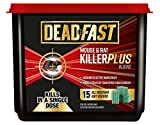 Deadfast Mouse and Rat Killer Plus Poison, 15 Block - Green