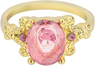 winsopee Women Fashion Round Gemstone Ring Band Creative Natural Simple Dainty Gorgeous Ring Band