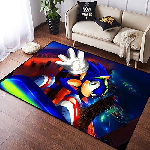 Coobal So-nic The Hedgehog - Alfombra grande para suelo de yoga, para niños, sala de juegos, dormitorio, 3 x 5 pies (90 x 150 cm)