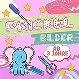 Prickelbilder ab 3 Jahre: Lustiges Prickel Block für Mädchen und Jungen - Malen, Prickeln und Ausschneiden – Die ersten Bastelversuche (German Edition)